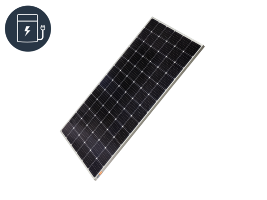 Solar PV off-grid - power storage icon